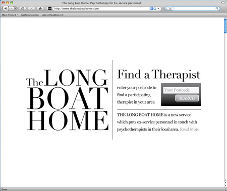 The Long Boat Home - home page
