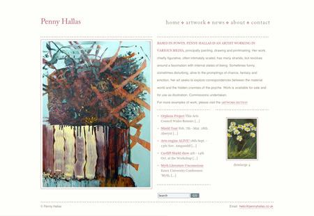 Penny Hallas' website - home page
